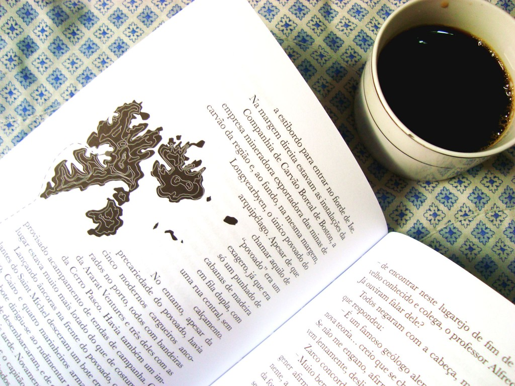 páginas do livro A ilha de Bowen