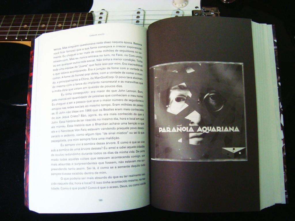 páginas do livro O último rei do rock