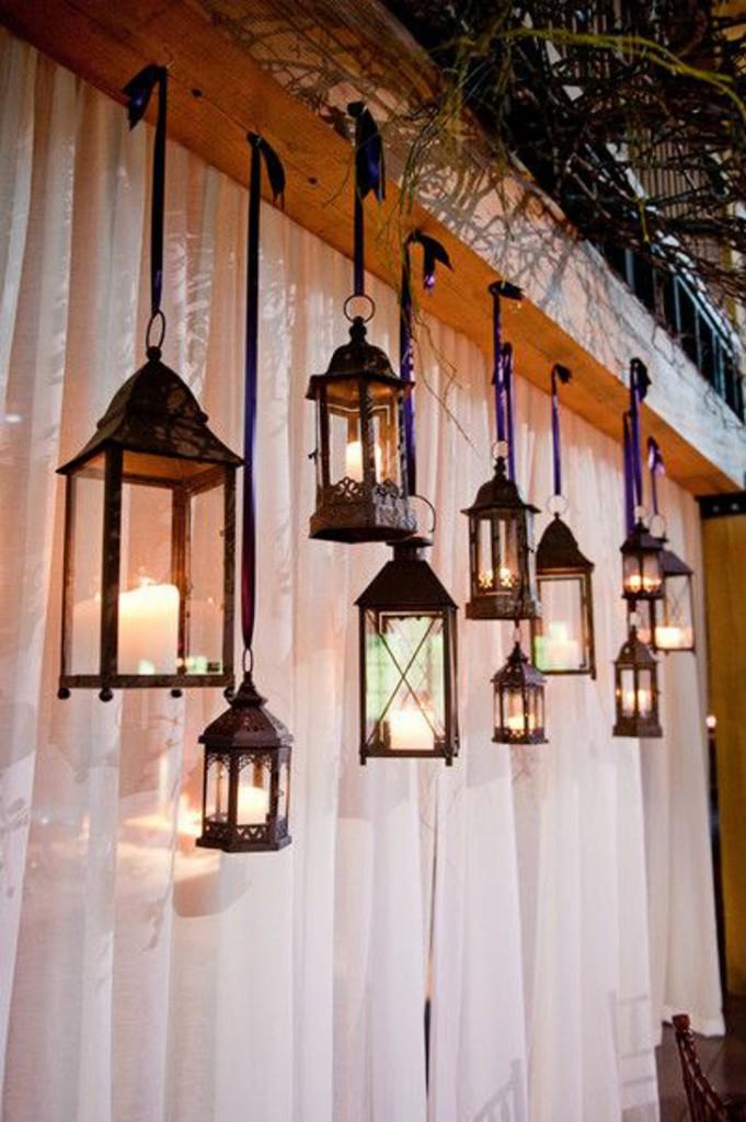 decoração com lampiões pendurados