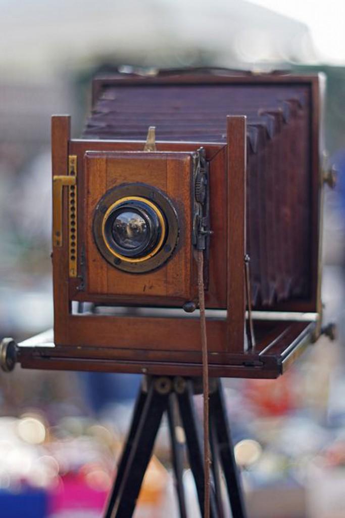 câmera antiga decoração