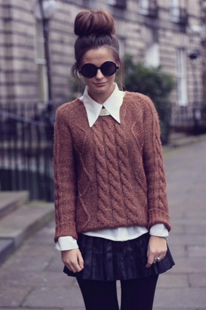 look de inverno com suéter