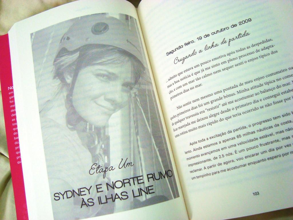 Página do livro Destemida de Jessica Watson