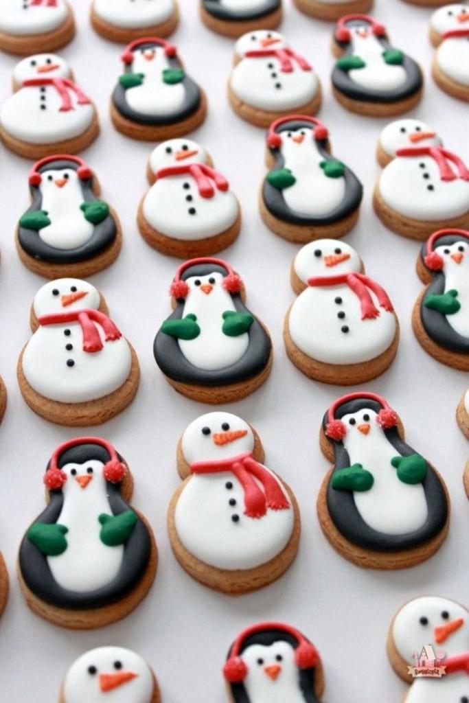 biscoitos decorados natalinos