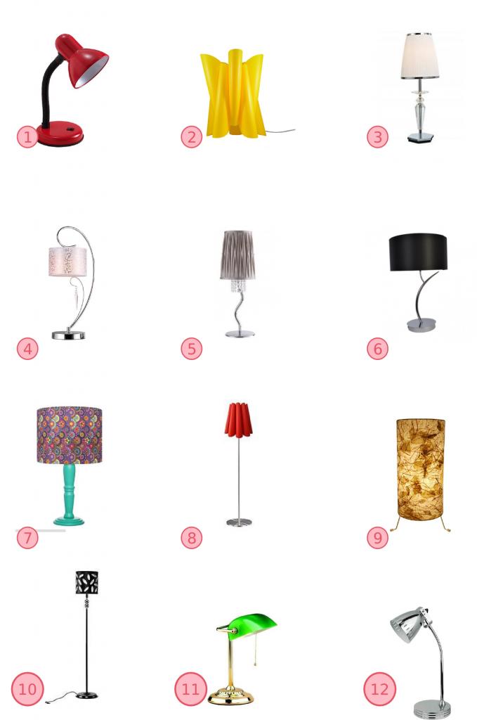 comprar luminaria/abajur online