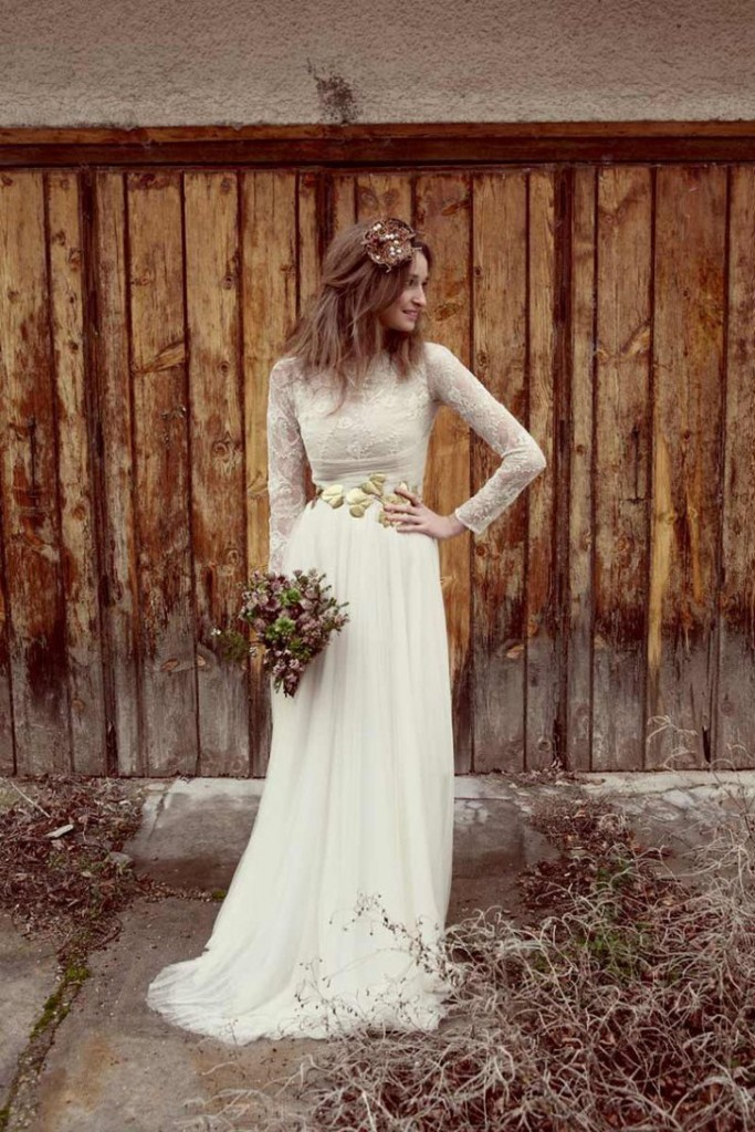 vestido noiva sofisticado simples vintage