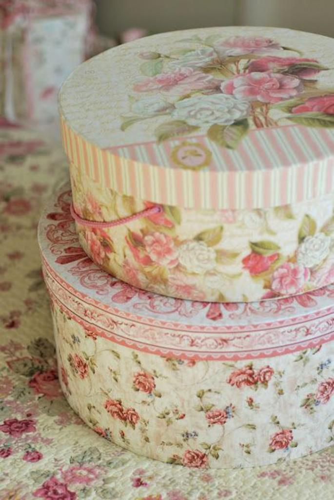 caixa floral - caixa vintage - caixa para decoração
