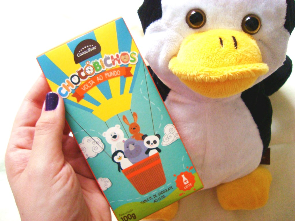chocobichos - cacau show - chocolate - dia das crianças - fantoche - pinguim de pelúcia