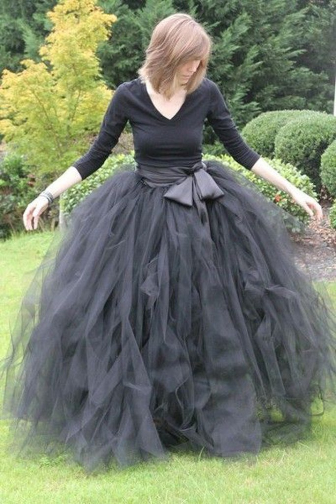 look preto - look halloween - saia tule