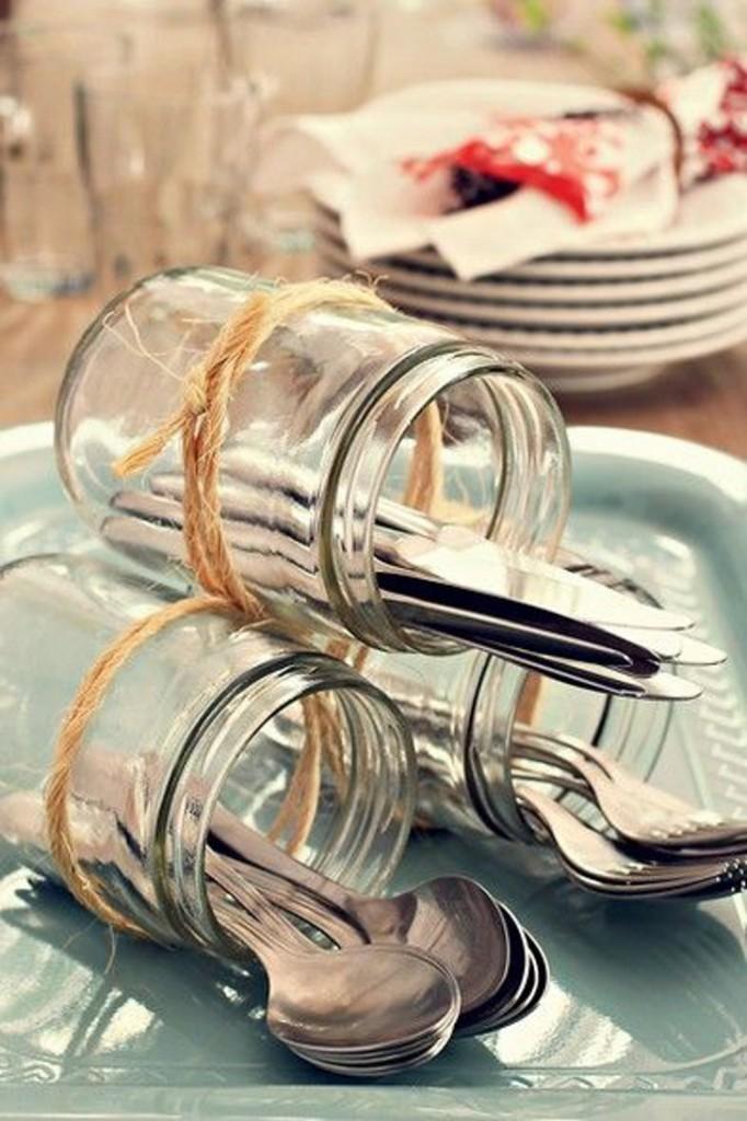 pote de vidro - decoração - mesa