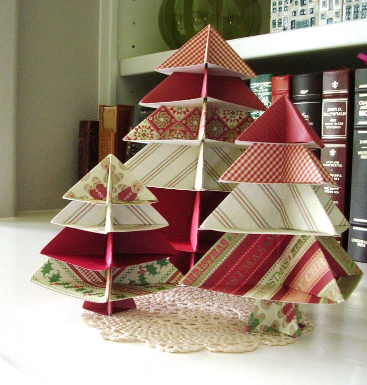 dobradura árvore de natal - decoração de natal