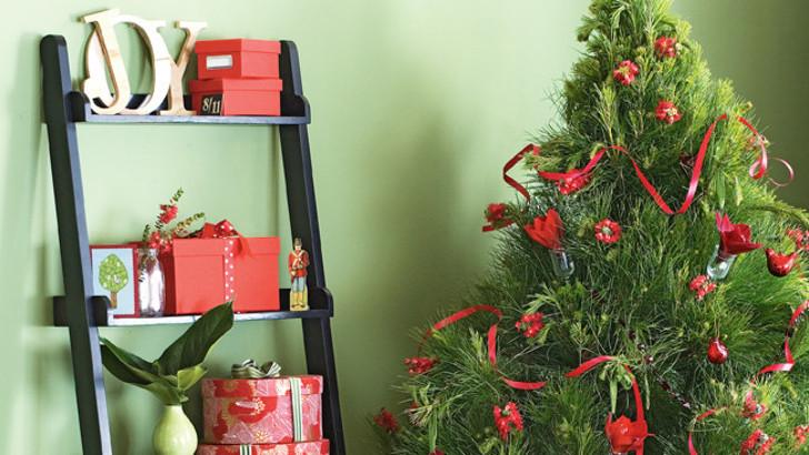 Decoração tradicional de Natal - verde e vermelha