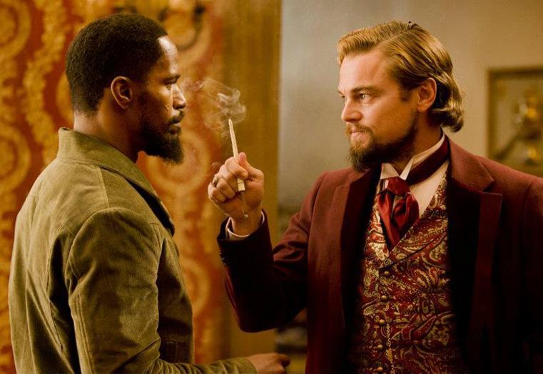 Cena de Django livre - 2012 com Di Caprio e Jamie Foxx