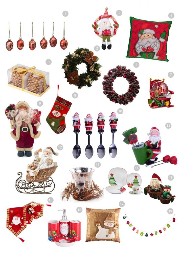 comprando itens de natal pela internet