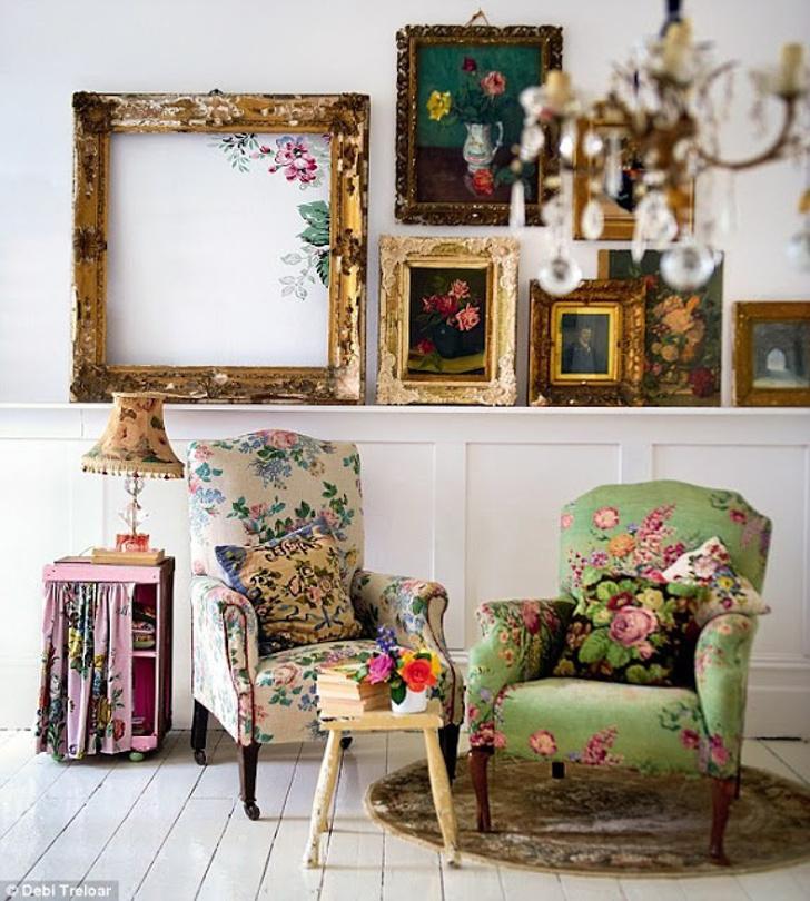 estampa floral - dcoração de sala