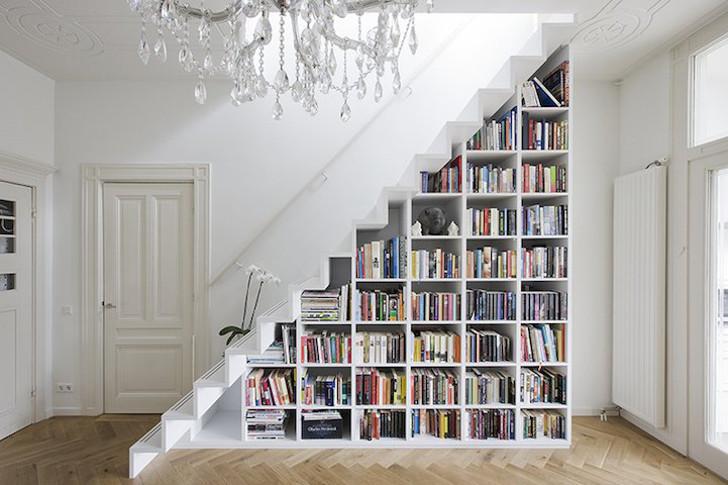 estante - decor - embaixo da escada
