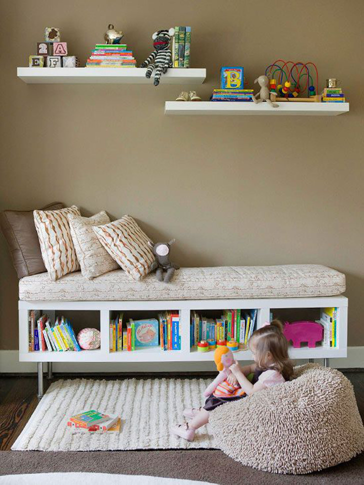 sala de leitura e brinquedos - sala para crianças