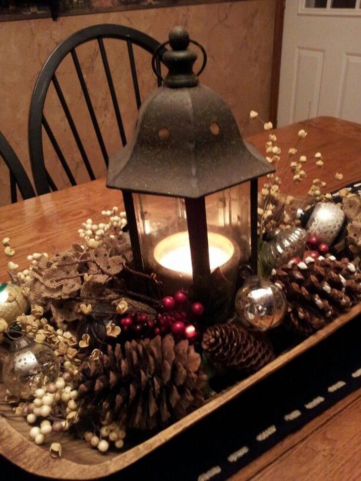 decoração de mesa - decoração para o natal