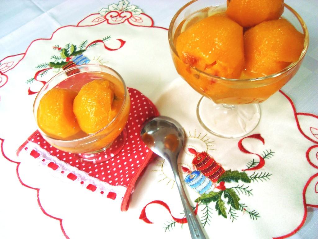 receita - doce de pêssego