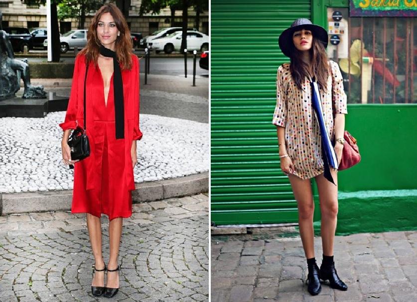como usar a tendência - skinny scarf