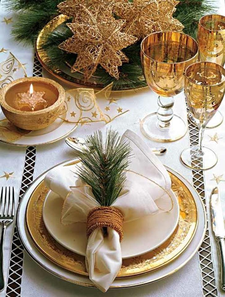 mesa de ceia de natal - decoração