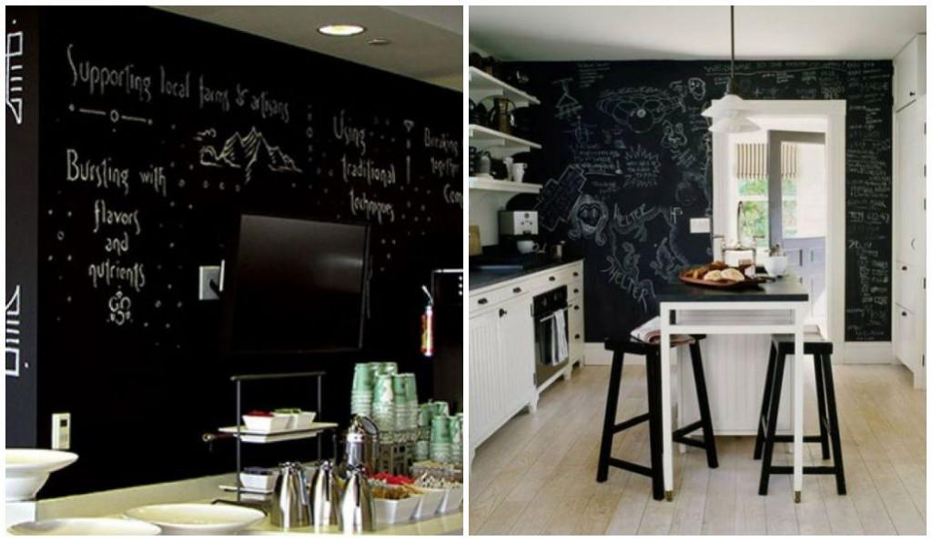 decoração - quadro negro na cozinha - como usar