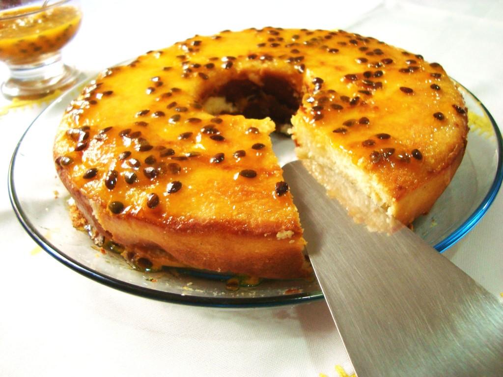 bolo cocada com calda de maracujá - como fazer