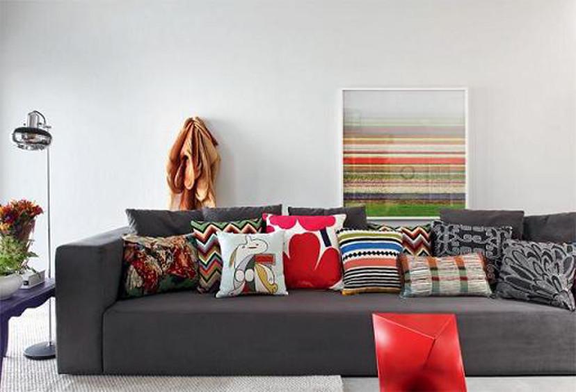 almofadas coloridas - tendência