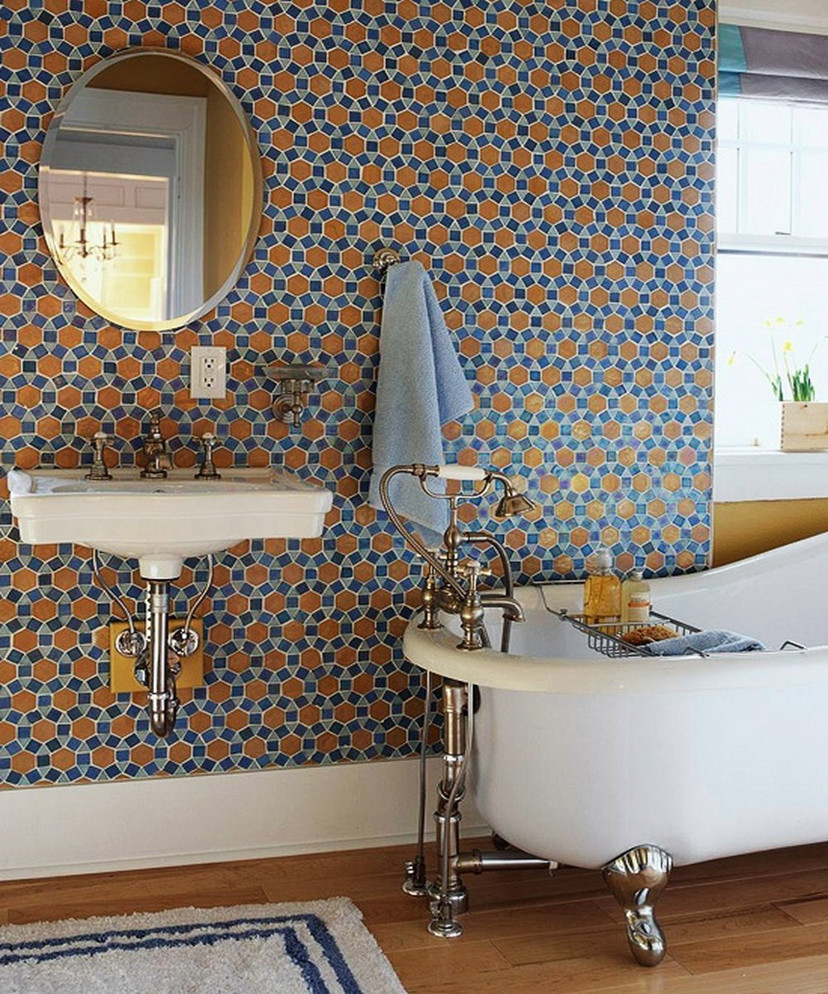 tendência de decoração - azulejo geométrico