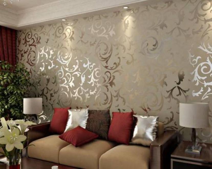 decor- papel de parede metalizado