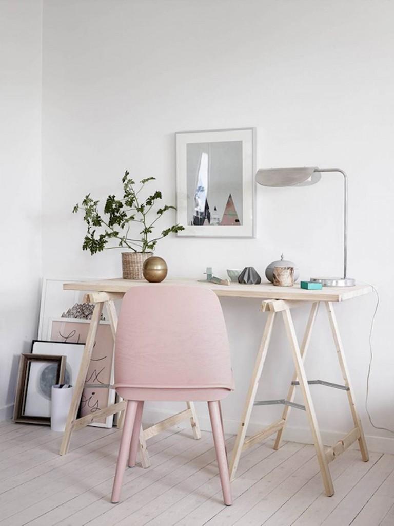 home office decor - rosa quartzo