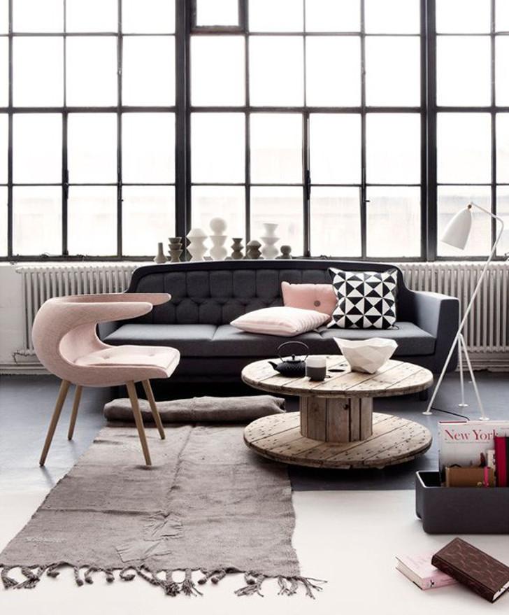 decoração - rosa quartzo com cinza