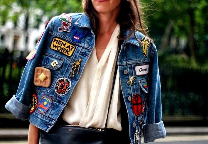 Jaqueta com patches
