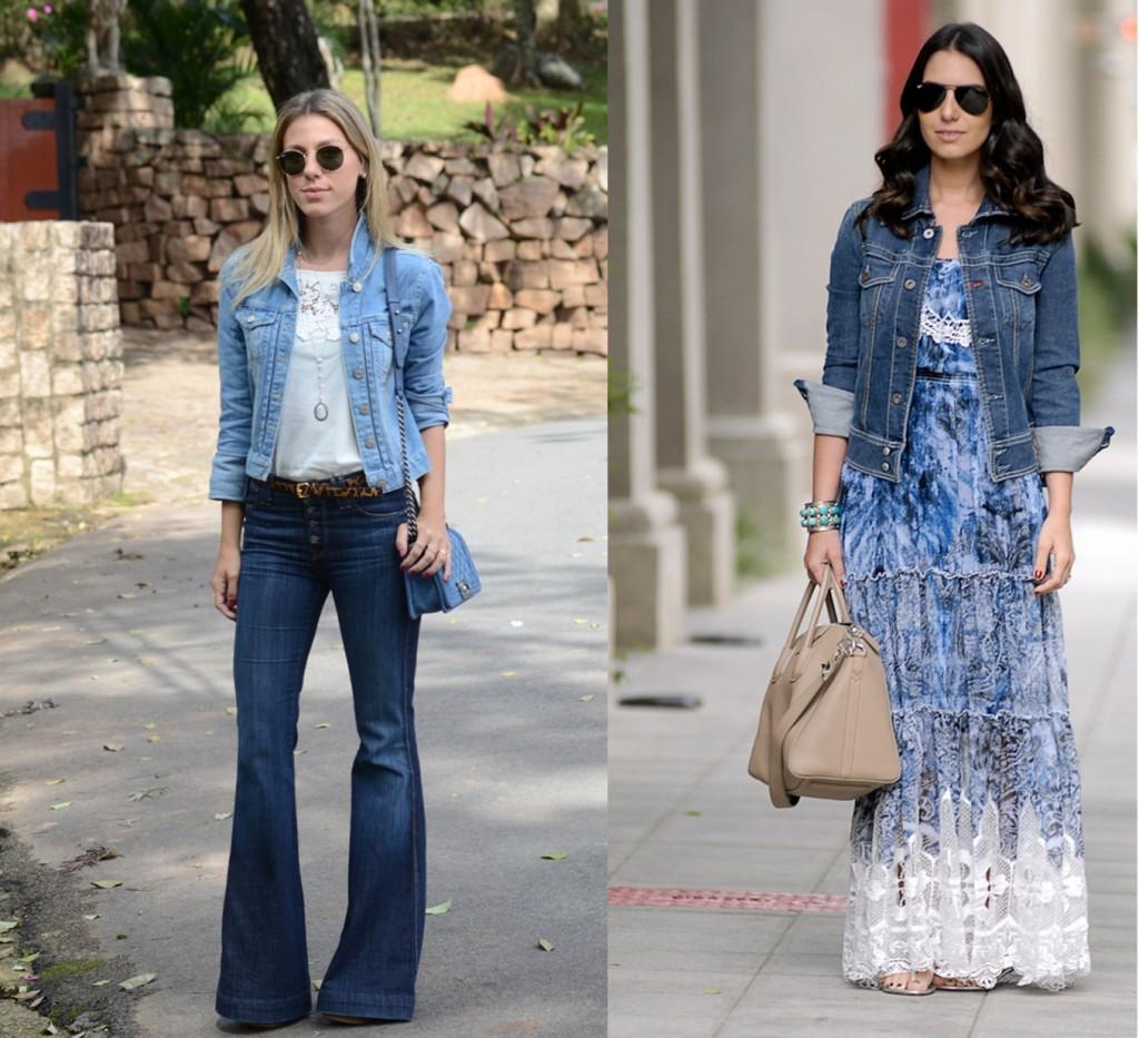 como usar jaqueta jeans - look - meia estação