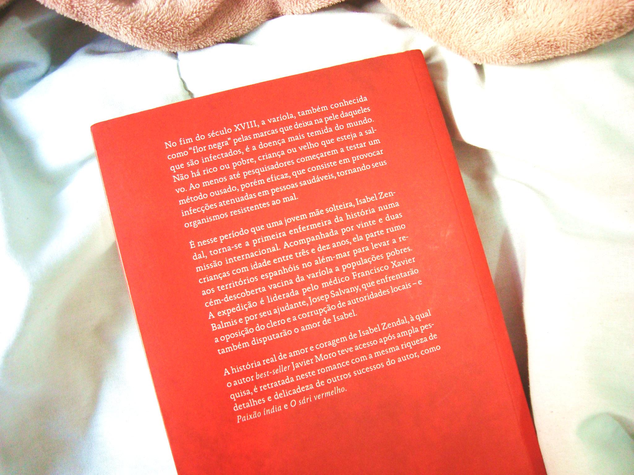 Livro Flor da Pele - Contracapa - Javier Moro