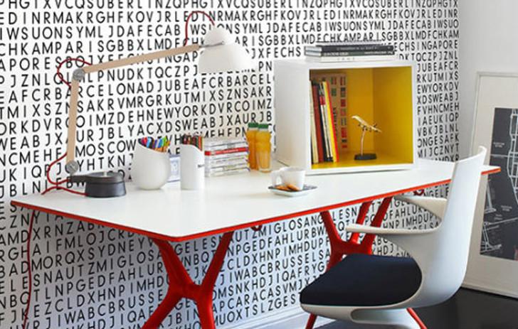 papel de parede de letras - tipografia na decoração