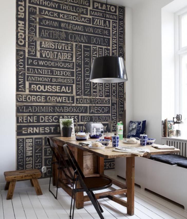 papel de parede de palavras - decoração