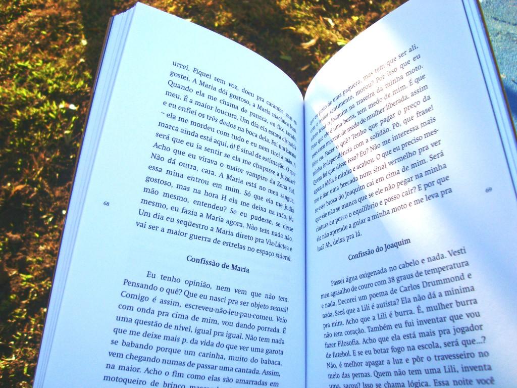 Página do livro - na curva das emoções