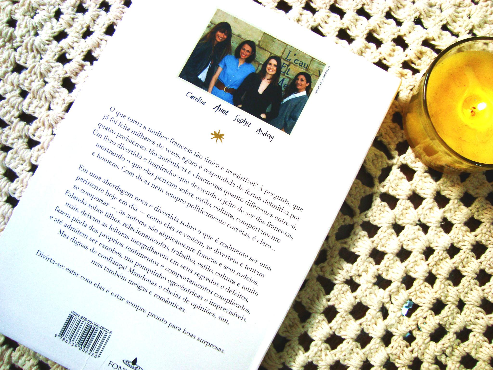 contra capa do livro - como ser uma parisiense em qualquer lugar do mundo - resenha