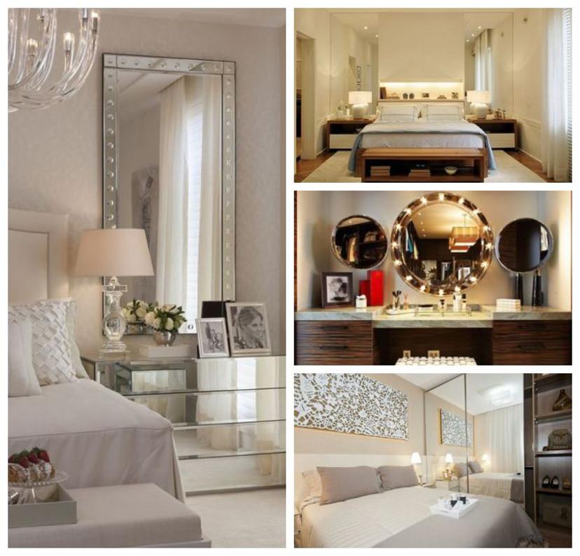 espelhos no quarto - decoração