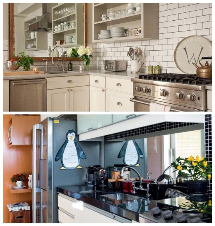 como usar espelhos para decorar a cozinha