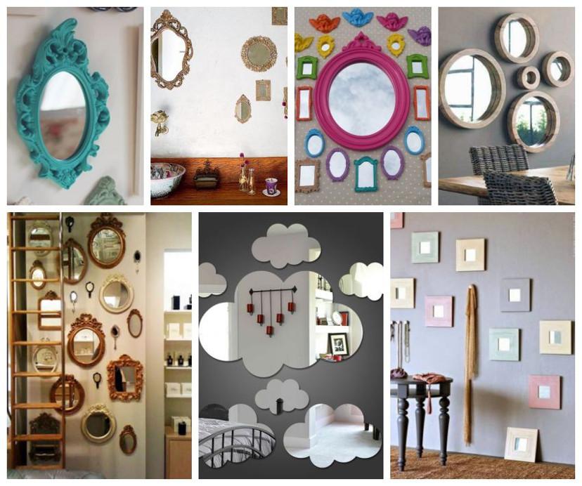 como usar vários espelhos na decoração