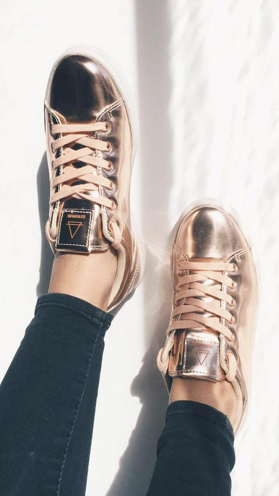 Womens Gold Casual Shoes