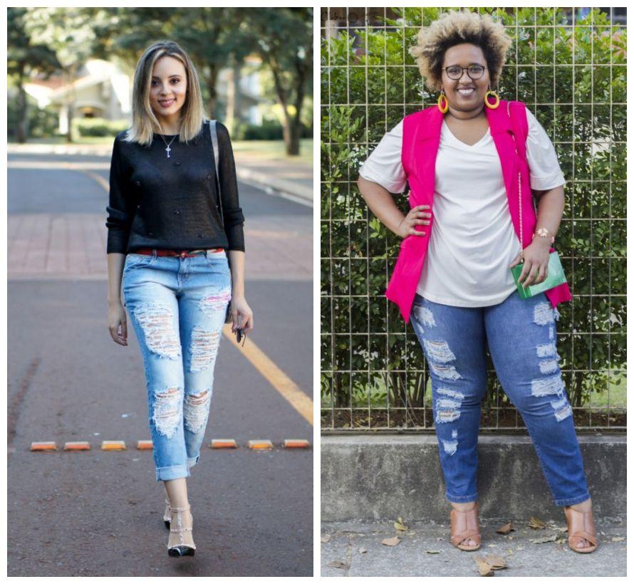 jeans destroyed com colete - look