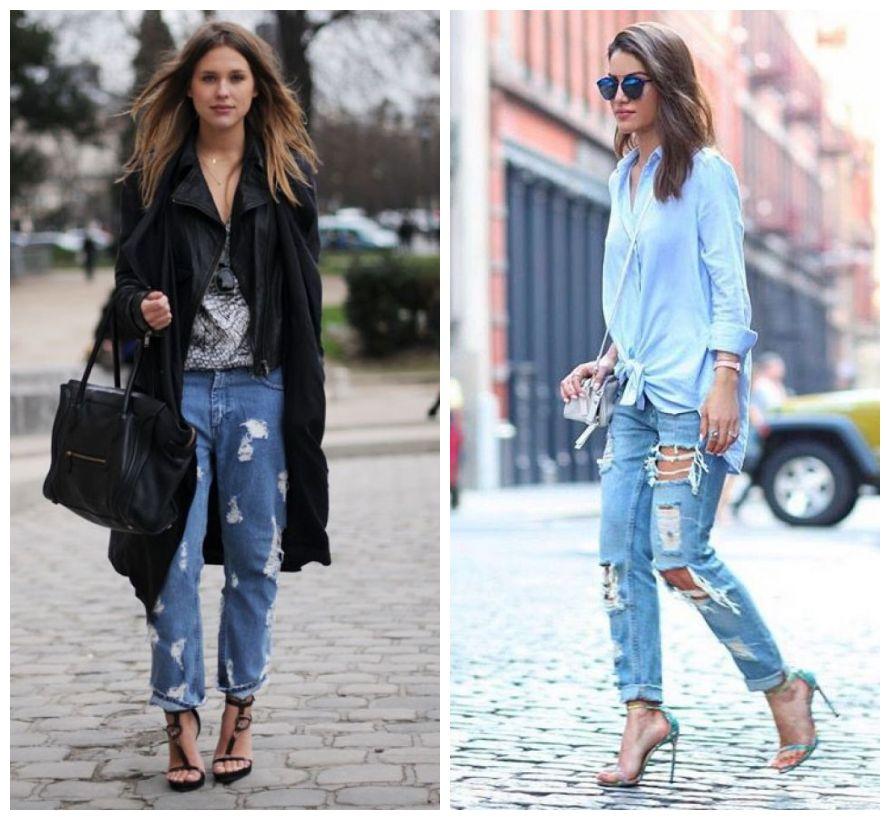 look - jeans destroyed com sandália - como usar