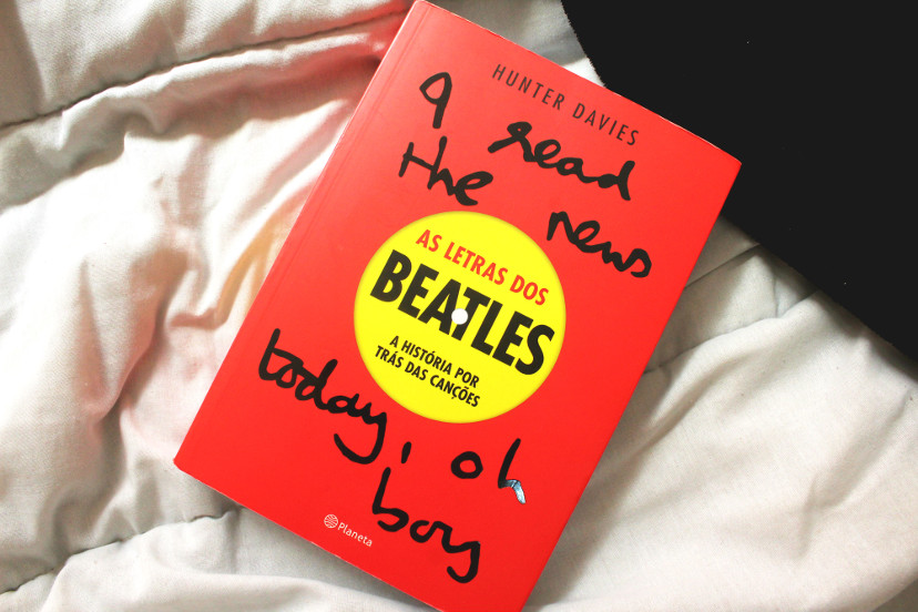 Capa Livro Hunter Davies - As letras dos Beatles