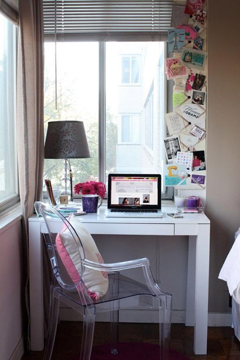 móveis transparentes - home office decor