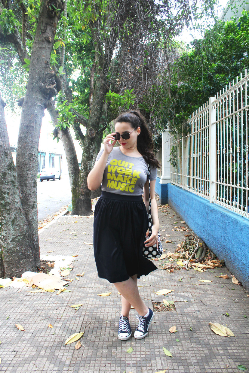 look saia midi com all star