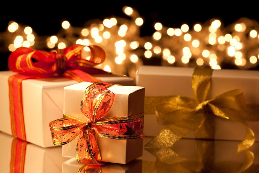 presentes na decoração de natal