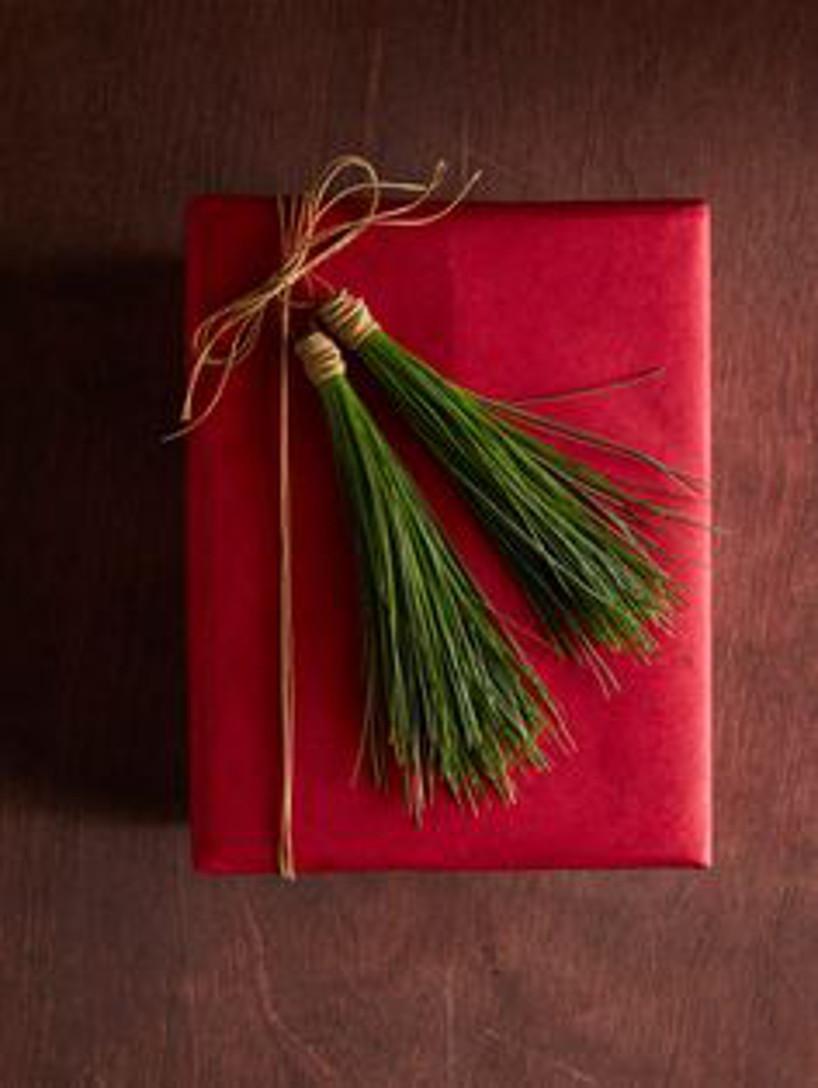 embrulhos simples para o presente de natal