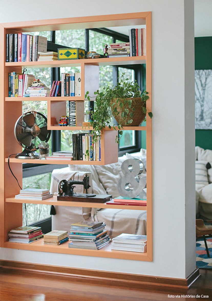 decoração - como usar estante na parede